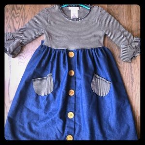 Bonnie Jean little girl size 6 dress. Adorable!